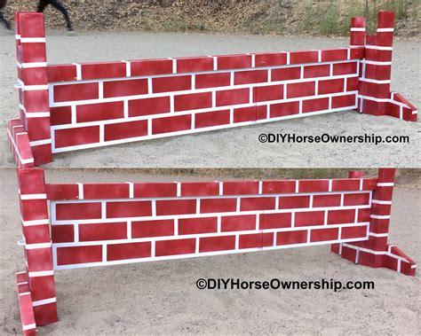 diy how to make a brick wall jump diy ownership