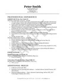 Insurance Underwriting Trainee Sle Resume by Resume Exles And Resume On