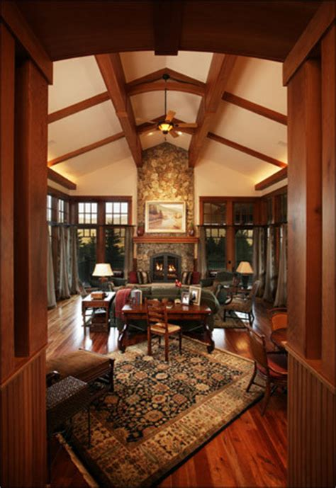 mountain arts and crafts living room traditional