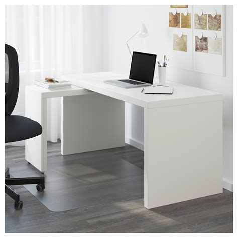Pull Out Desks by Malm Desk With Pull Out Panel White 151 X 65 Cm Ikea