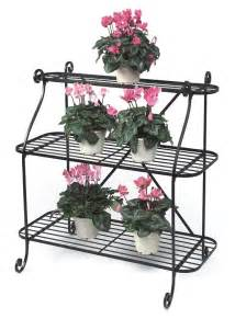 Three Tier Plant Stand Wrought Iron 3 Tier Plant Stand Garden Trend