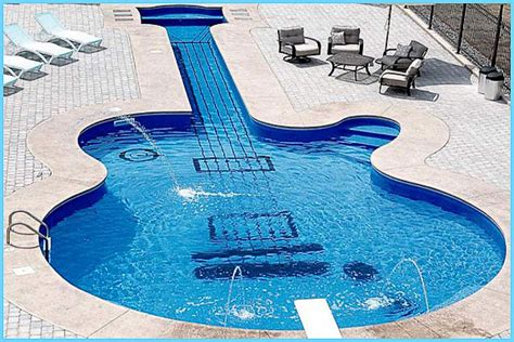 Guitar Shaped Swimming Pool 16 pools that will blow your mind