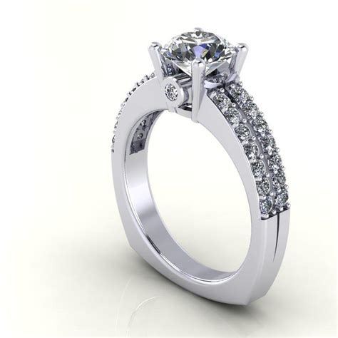 14k white gold ring with white sapphire center