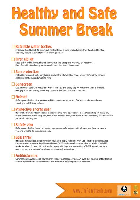 Some Tips For Summer by Safety Summer Tips Infanttech