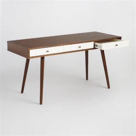 wood zarek mid century style desk wood zarek mid century style desk world market