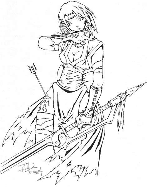 Girl Ninja Coloring Page | ninja girl by candywarlock on deviantart