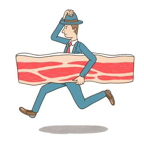 bring home the bacon hackett illustration