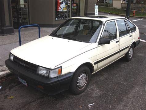 1985 toyota corolla wagon parked cars 1986 toyota corolla station wagon