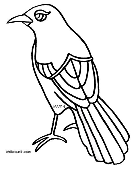 texas bird coloring page state bird clipart 42