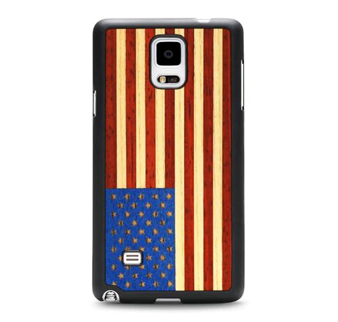Casing Samsung Galaxy Note 4 Us Flag Custom Hardcase galaxy note 4 american flag craftedcover