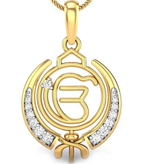 kataria jewellers ek onkar khanda guru nanak sikh pendant