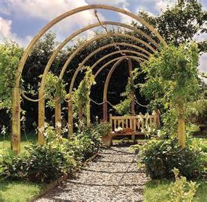 Flower Circle Pergola by Jac Flower Walk Pergola From Grange Garden Products
