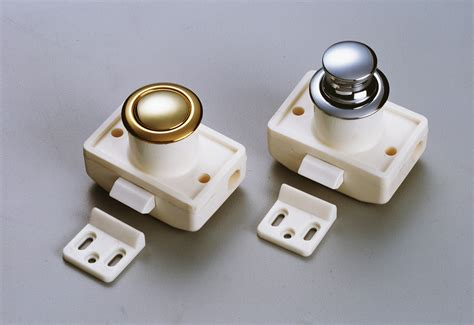 push latch cabinet hardware door cabinet latch push button chrome