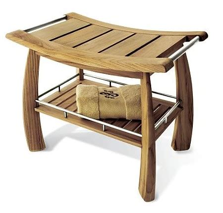 broyhill teak shower bench teak deals