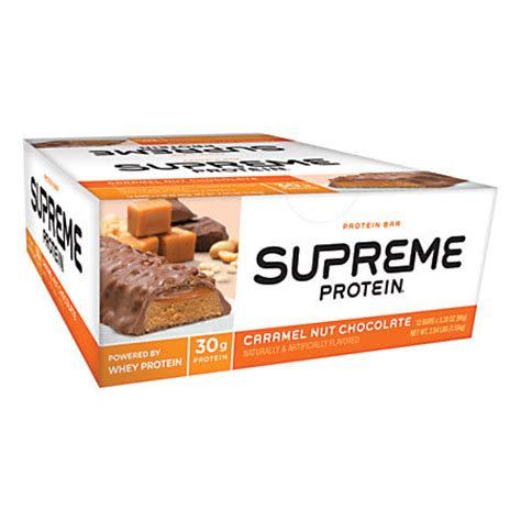 supreme protein supreme protein caramel nut chocolate bar 1 75 oz by
