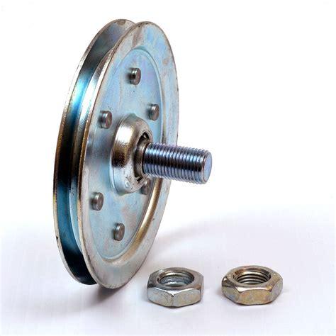 garage door 4 inch sheave pulley with stud ebay