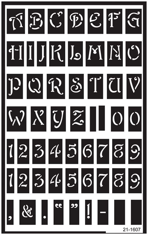 printable engraving templates stencils free entire alphabet over reusable glass