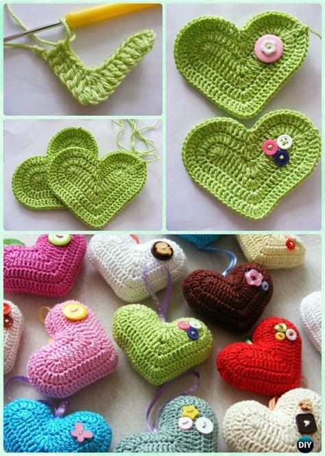 pattern amigurumi heart 1628 best crochet hearts images on pinterest crochet