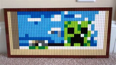 lego painting lego minecraft creeper painting