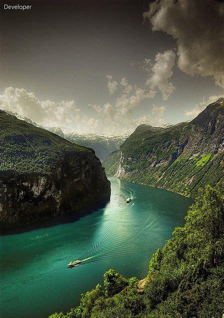 fjord urlaub norway geiranger fjord wanderlust pinterest