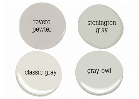 Benjamin Light Grey by Benjamin Gray Owl Paint Color