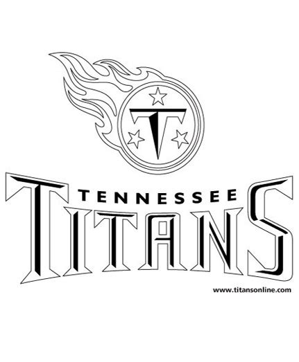 nfl titans coloring pages tennessee titans coloring book page logo