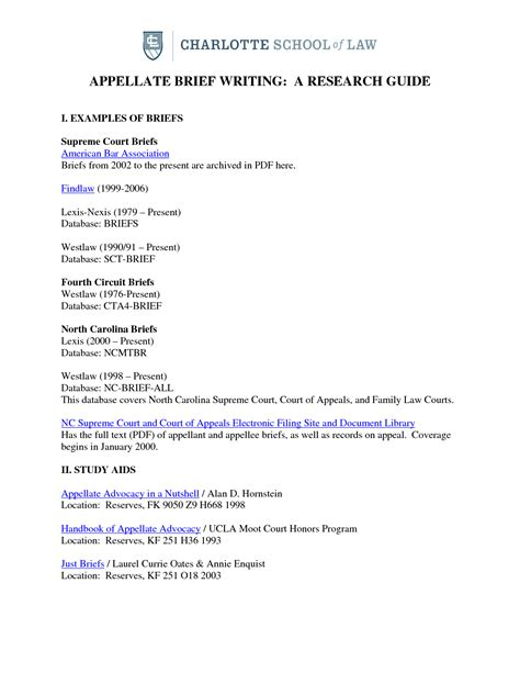 Appellate Brief Briefformat court briefformat 28 images sle trial brief best