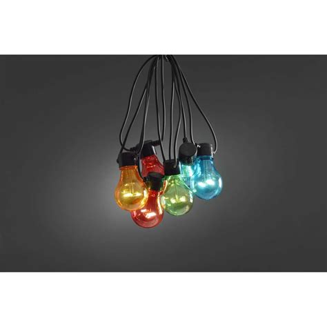 party led verlichting zwarte kabel 20 multicolor led