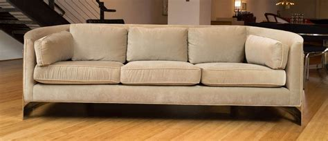 selig couch selig chrome frame sofa at 1stdibs