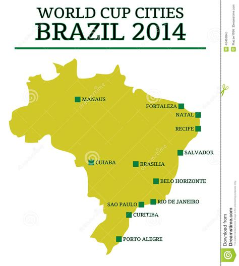 world cup host cities map world cup cities brazil 2014 editorial image image 40463045