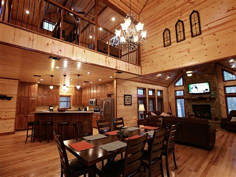 open floor plan cabins treasured times luxury cabin open floor vrbo