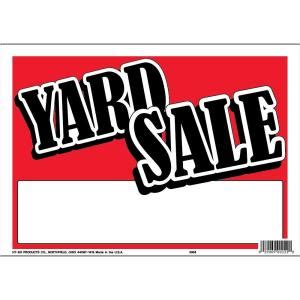 hy ko 9 in x 12 in plastic contemporary yard sale sign