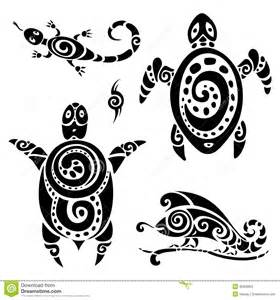 turtle tribal tattoo set stock photos image 35359993
