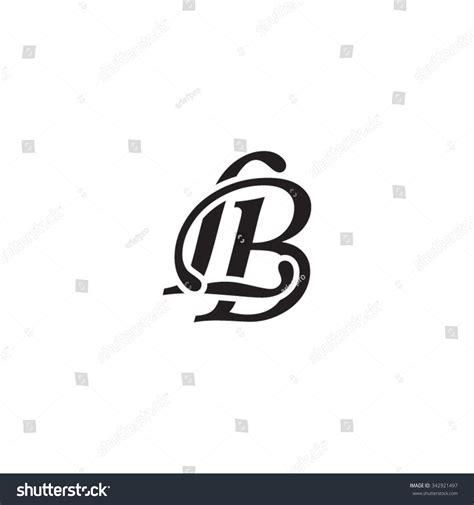 Lb Monogram lb initial monogram logo stock vector 342921497