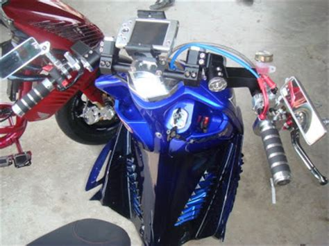 Stang Seher Mio Genuine Mio Soul modifikasi yamaha mio sporty warna biru bikin terkesan oto trendz