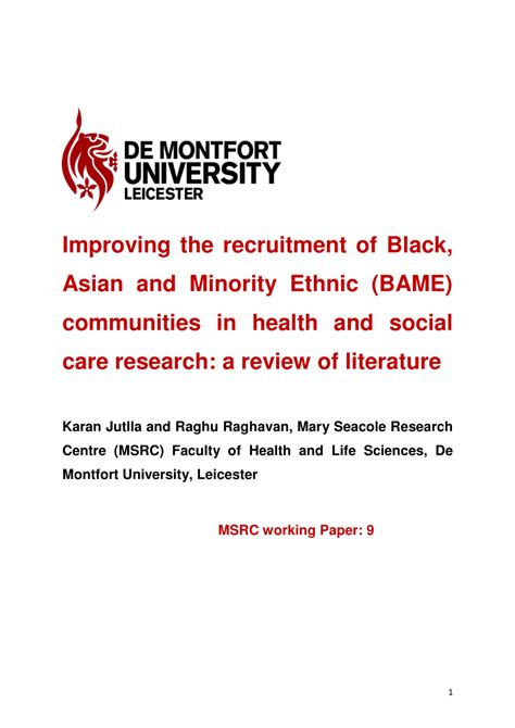 the and minority groups a manual prepared for use in the chicago park district school classic reprint books improving the recruitment of black asian and minority