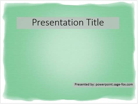 free simple green powerpoint template 3913 sagefox