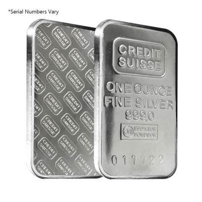 1 Oz Credit Suisse Silver Bars - 1 oz credit suisse silver bar secondary bullion exchanges