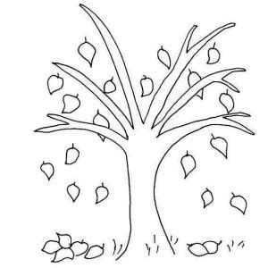 trees without leaves coloring pages fall leaf happy tree autumn tree without leaves in fall leaf coloring page