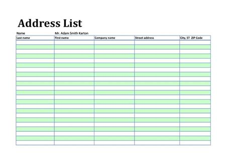 contacts spreadsheet template 40 phone email contact list templates word excel ᐅ