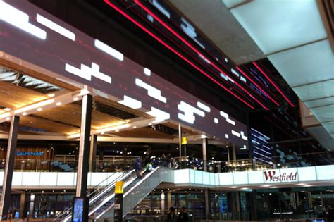Westfield Lighting by Architectural Led Feature Lighting For Westfield Shopping