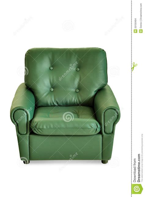 Green Leather Armchair by Green Leather Armchair Front Stock Images Image 20150494