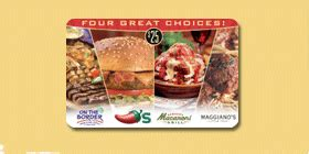 Brinker Gift Cards - 50 brinker 4 choice gift card chili s macaroni grill for 40 fry s electronics