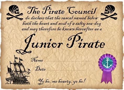 junior pirate certificate rooftop post printables