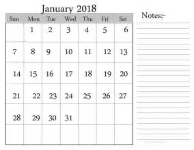 Calendar 2018 Notes Checkout January 2018 Personalised Calendar Images