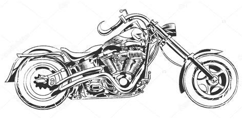 Motorrad Chopper Zeichnung by Wektor Rowerzyst 243 W Rysunek Wektor Motocykl Z Elementami