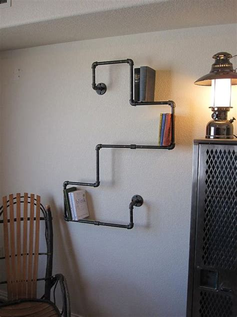 plumbing pipe bookshelves industrial plumbing pipe bookshelf
