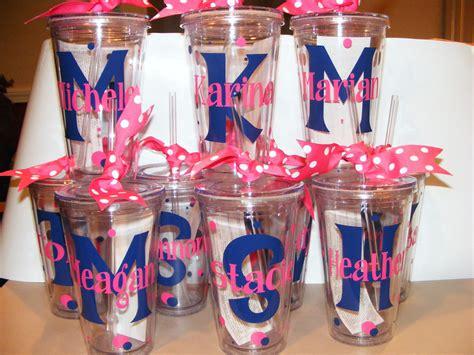 personalized tumbler 16 oz w straw bridal party birthday