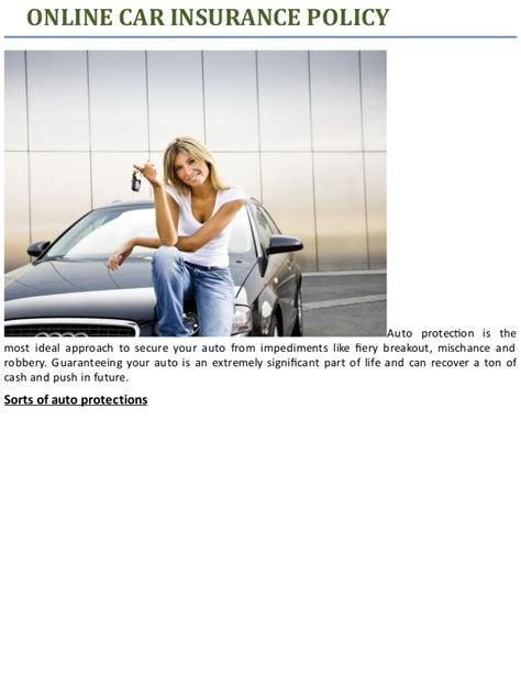Assurance Auto Online by Online Car Insurance Policy