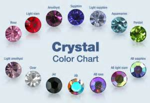 crystals by color color chart